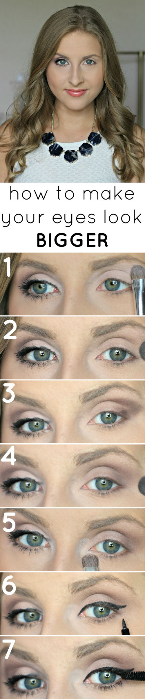 Learn how you can make your eyes look HUGE with this easy makeup technique! #EyeBooster #spon