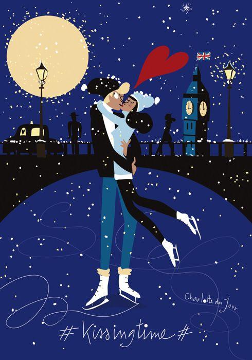 Charlotte du jour #kissingtime  illustratrice, agence Marie Bastille // cette image appartient à son auteur et/ou l'agence Marie Bastille + d'infos sur le site //