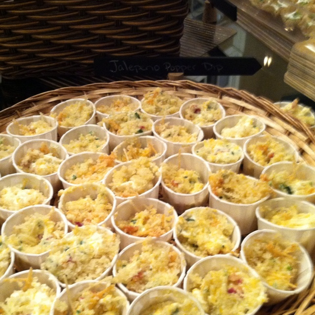 Jalepeno popper dip In individual cups... We wanted all finger food- grab and eat!