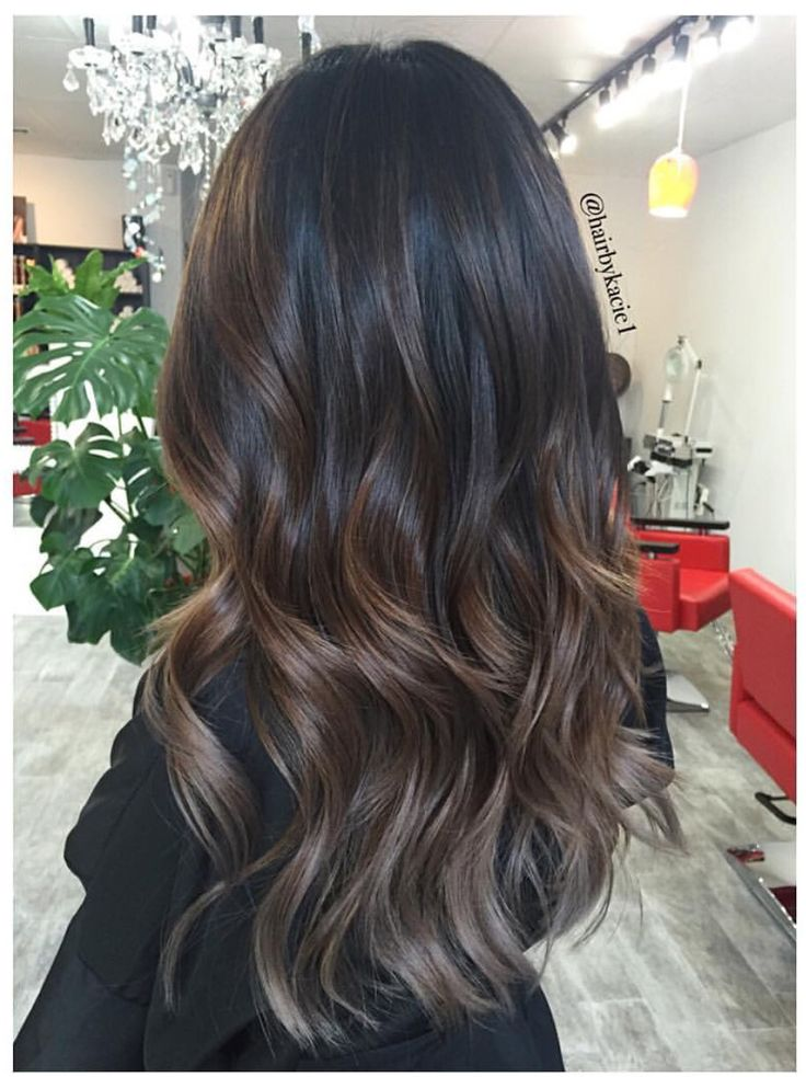 ashy hair brown babylights summer hair color for brunettes balayage ...