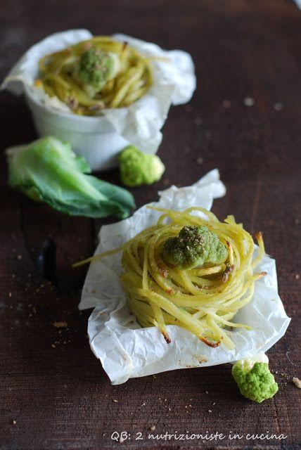 Q B Le ricette light: bavette gratinate con crema di broccoli e crumble di acciughe