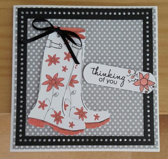 Colour Me die cut wellington boot, tag pad by Craftwork Cards