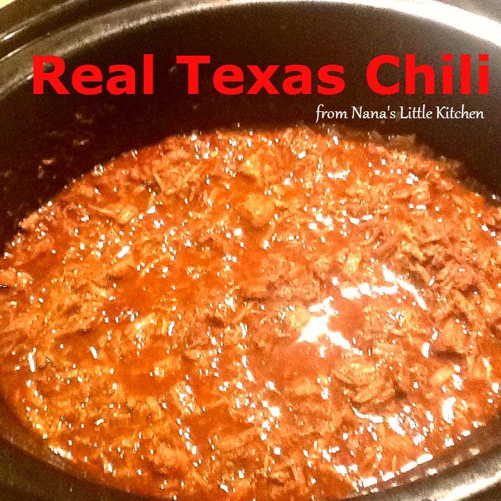 Nana's Little Kitchen: Real Texas Chili https://www.facebook.com/nanaslittlekitchen