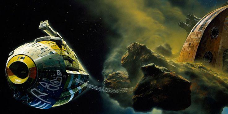 Sci-Fi Artists: Chris Foss Paints Immense Spaceships - OMNI Reboot