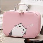 This Hi Kitty Makeup Suitcase is perfect to decorate your bathroom and to carry your makeup when you travel or go to parties.   #Pink #Meow #Unykeness #travel #travelling #holiday #holidays #bathroom #bathroom accessory #makeupcase #makeup #makeuppouch #cute #kawaii #cartoon  #cat #kitty #cutecat #catlovers