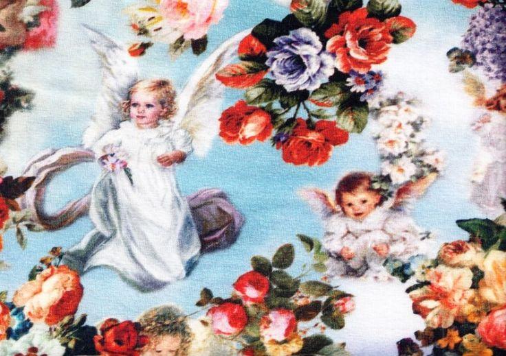 T1197 Trikå änglar (digitaltryck)