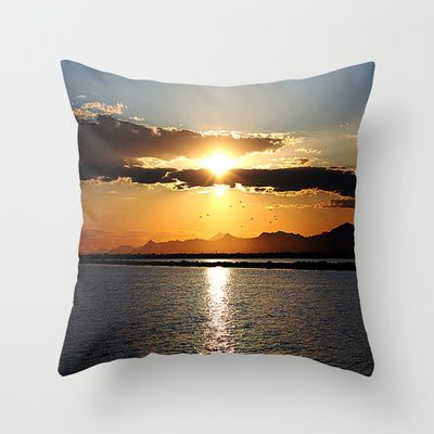 Spanish Sunset Throw Pillow by AngelEowyn. $20.00