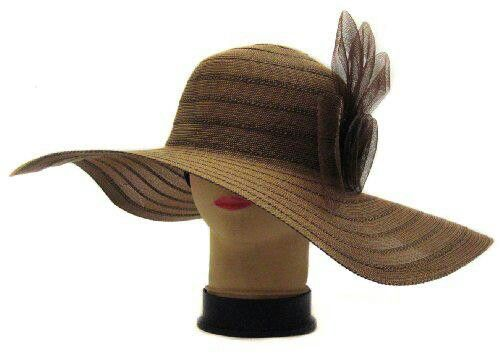ready stock topi pantai lebar bundar vintage hat brown price rp