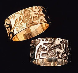 Canyon Art Gold & silver wedding bands