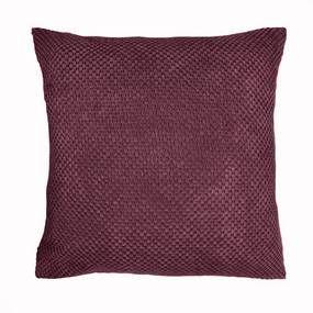 Chenille Spot Plum Cushion