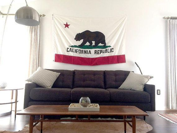 "Vintage Flags - Cotton California Bear Flag 54"" x 36"""