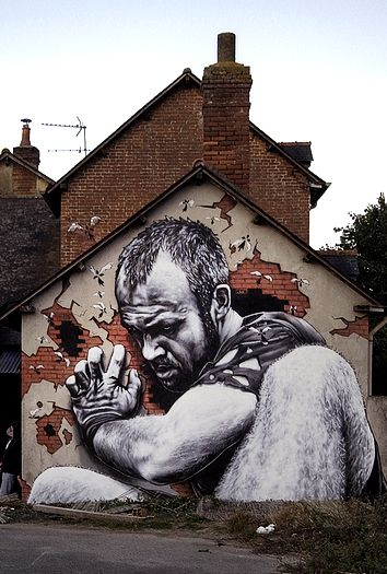 by MTO en Rennes #street art # graffit looks like flocki from vikings