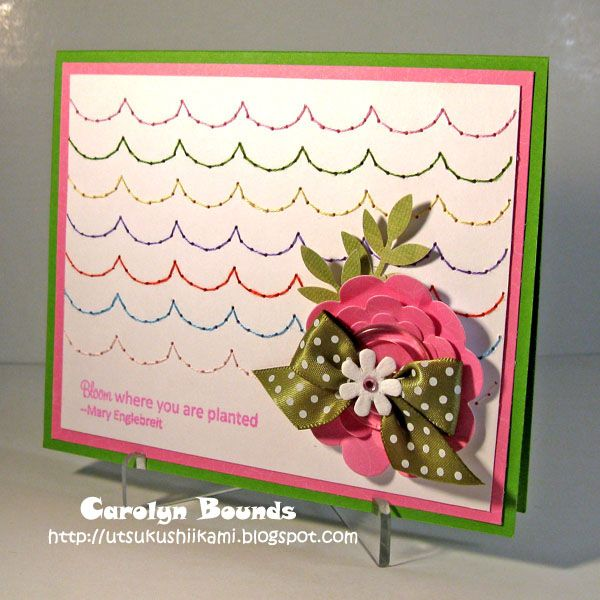 Card Making Ideas Scrapbooking Part - 16: I Love The Repeat Stitching On This Card Using The Sew Easy Tool. #seweasy
