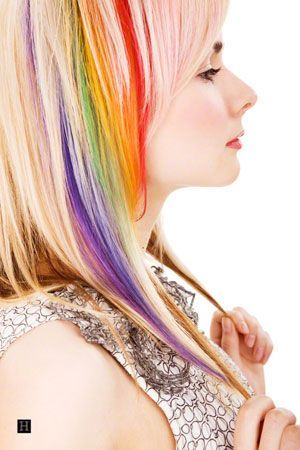 2014 Hot Ombre Highlights Trend: 30 Rainbow Colored Hairstyles for Chic Women to Try - Pretty Designs