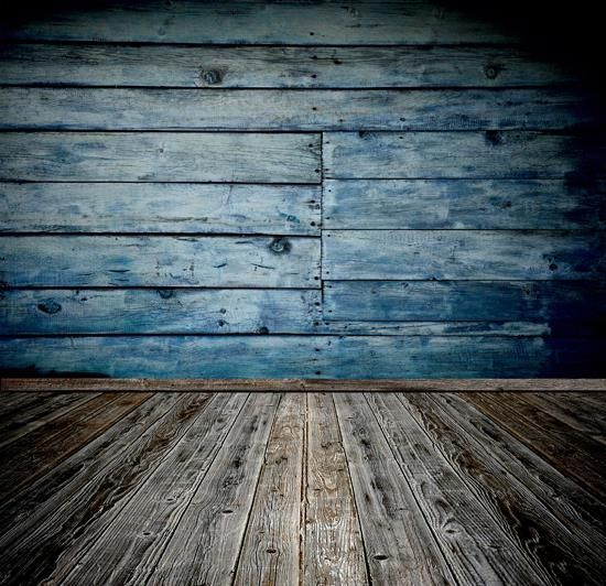 >> Click to Buy << 5x7ft Blue distressed textured wood fence and gray wood floor photography backdrop D-985 #Affiliate