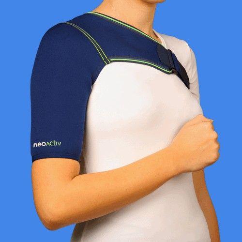 SH01A NeoActiv Soporte de hombro unilateral indicado para subluxaciones de la articulación escapulo- humeral, ligeras inestabilidades, procesos dolorosos. Lesiones y patologías que necesiten calor terapéutico antiálgico y compresión. #ortopedia #deporte #salud