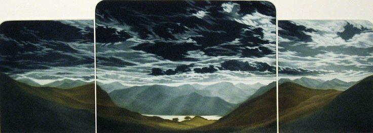 "Susan Jameson ""Derwent Fells"" Hand Signed Fine Art Etching UK Artist! Listed #Realism"