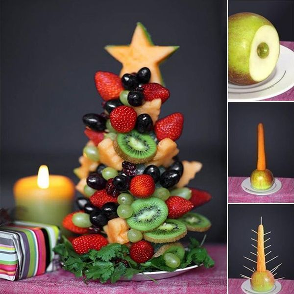 Delicious Fruit Christmas Tree is Here for You to Make