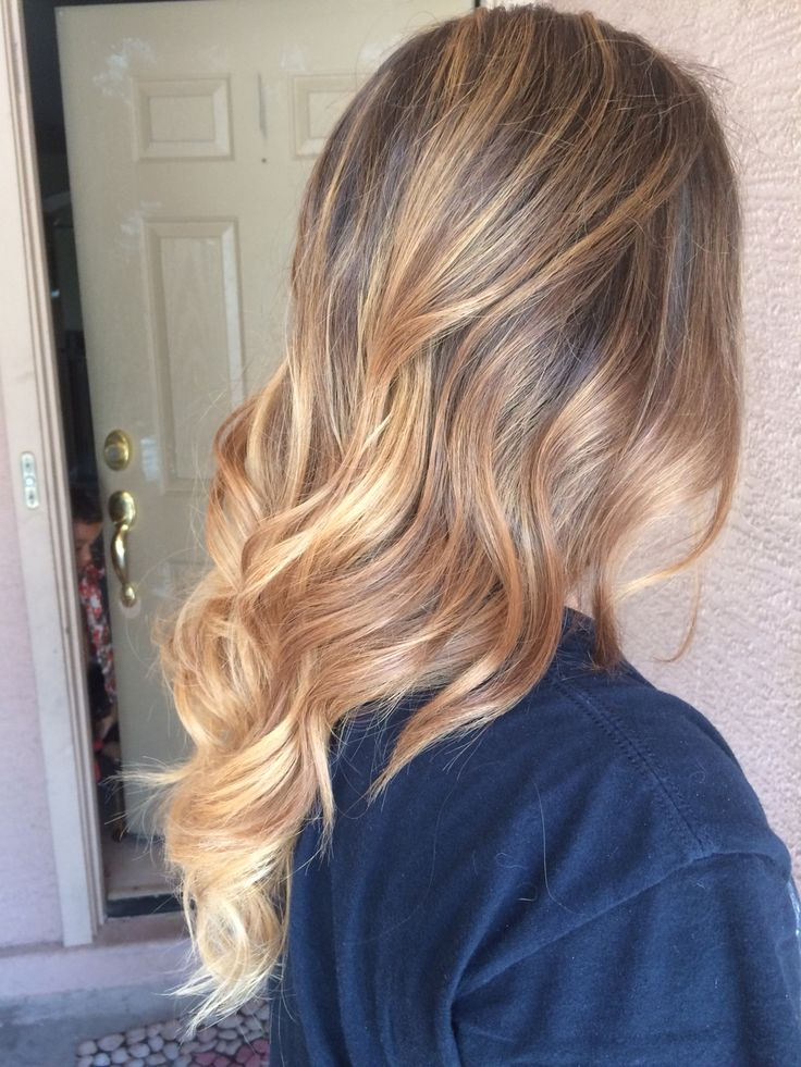 Carmel/blonde highlights. In love with my hair!