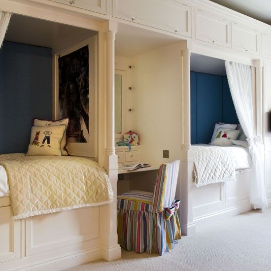 Fun built-in beds