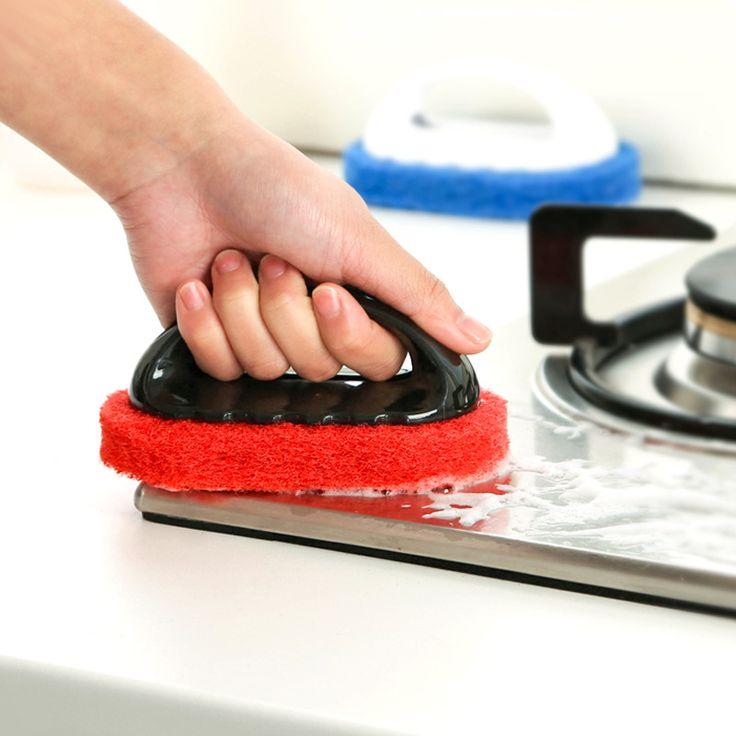 Home use handle brush magic melamine sponge kitchen bathroom window smoke lampblack machine cleaner Super decontamination