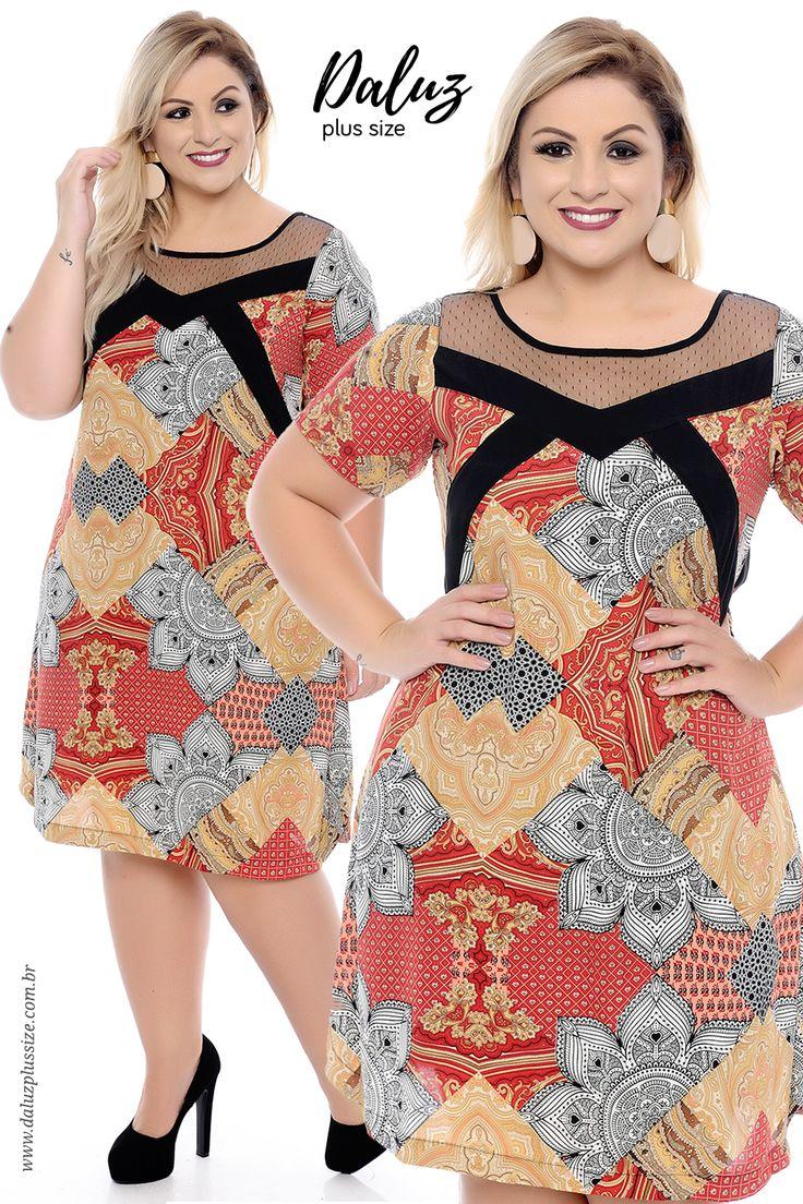 Vestido Plus Size Pietra - daluzplussize.com.br