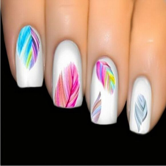 Colorful Feathers Water Transfer Stickers Nail Art Individual Designs Nail Decal Decoration Beautiful Women's Nail Tool NA345 Nail That Deal http://nailthatdeal.com/products/colorful-feathers-water-transfer-stickers-nail-art-individual-designs-nail-decal-decoration-beautiful-womens-nail-tool-na345/ #shopping #nailthatdeal