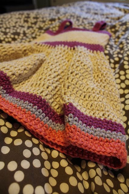 """Another Pinner says: """"This was an easy dress to crochet!""""  I MUST TRY!!"""