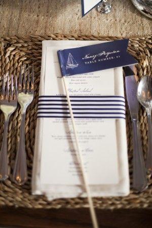 Nautical Blue Wedding Menu