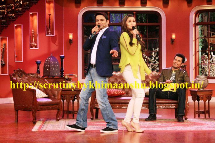 Aalia Bhatt, Colors, Comedy Nights with Kapil, Highway, Imtiaz Ali, Kapil Sharma, Randeep Hooda, In Pics Aalia Bhatt, Randeep Hooda & Imtiaz Ali in Comedy Nights with Kapil to promote Highway, K Himaanshu Shukla