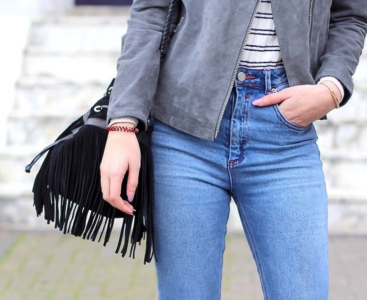 asos biker jacket bucket bag daisy street farleigh fashion fringe house of fraser jeans mom jeans mules new look spring stripes suede your shores