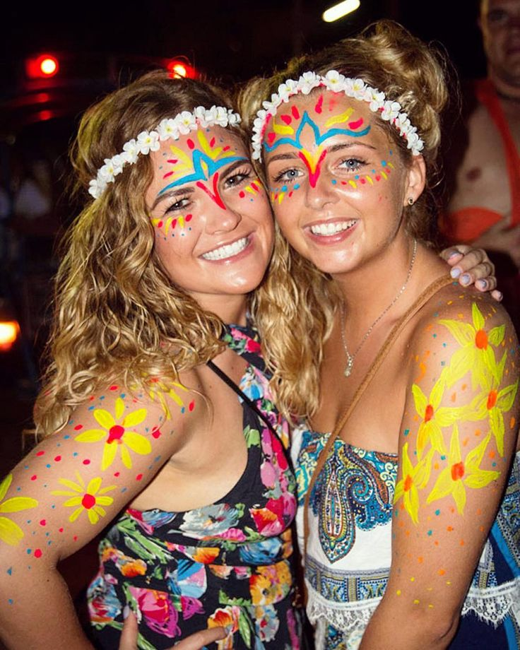 Colourful Full Moon party night in Koh Phangan, Thailand