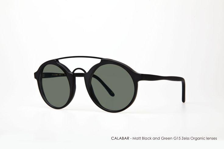 CALABAR in Matt Black with Green G15 Zeiss Organic Lenses