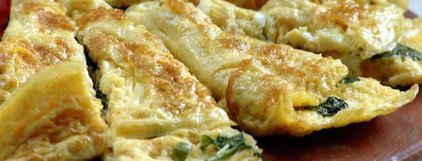 Recette de L'omelette aux Épinards