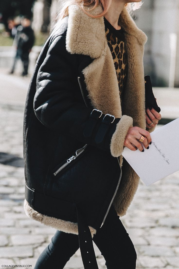 PFW-Paris_Fashion_Week_Fall_2016-Street_Style-Collage_Vintage-Shearling_Jacket-Leopard-