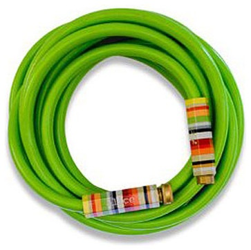 Lime Green Garden Hose with Striped Handles - eclectic - irrigation equipment - Organize