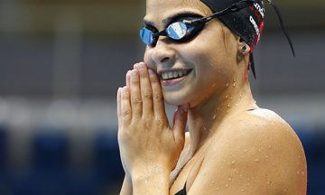 She's a real Olympic heroine.
