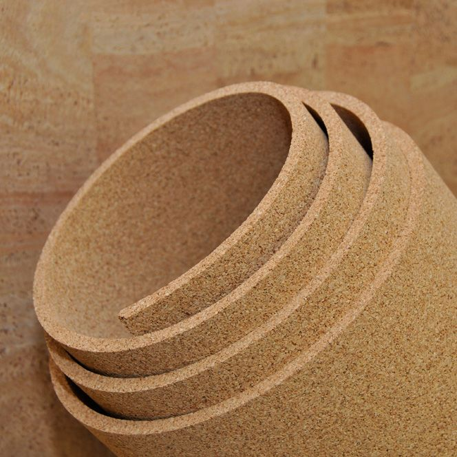 "3/8"" thick cork roll, 4' x 1' lineal feet"