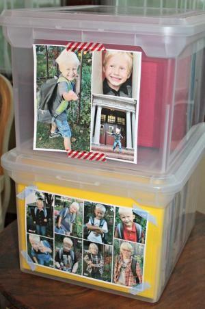 Organizing school stuff - kids by christy