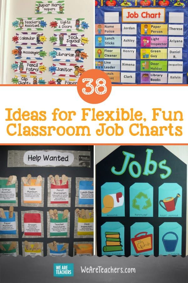 38 ideas for flexible  fun classroom job charts