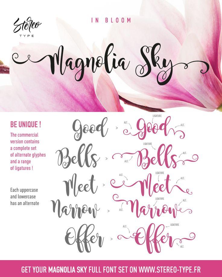 Magnolia Sky Schriftart | dafont.com
