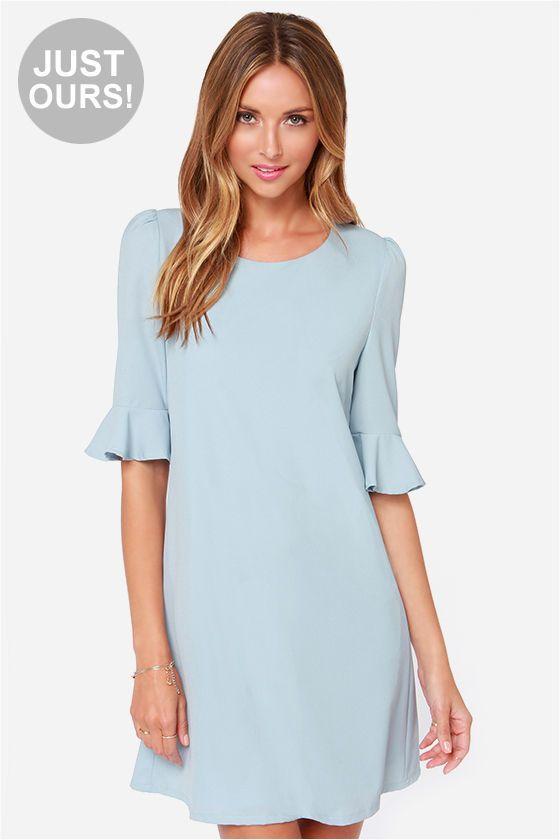 LULUS Exclusive Sunset Stroll Light Blue Dress at LuLus.com!