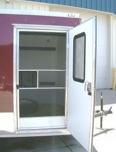 how to build a screen door for an enclosed trailer - Google Search