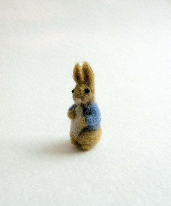 Hey, I found this really awesome Etsy listing at https://www.etsy.com/listing/170495866/miniature-peter-rabbit