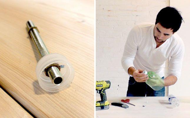 Cómo hacer tu mismo una lámpara de cemento.