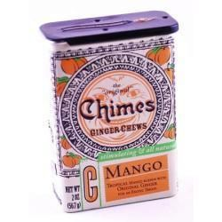 Chimes Mango Ginger Chews Tin - Fresh mango mixed with spicy ginger is the latest twist on our most popular candies.