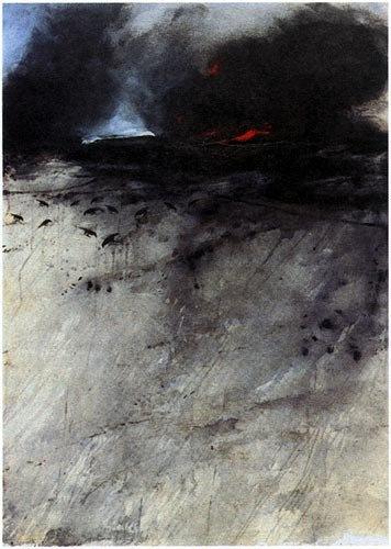 Vladimir Velickovic   Fire, 2002, 140x100cm