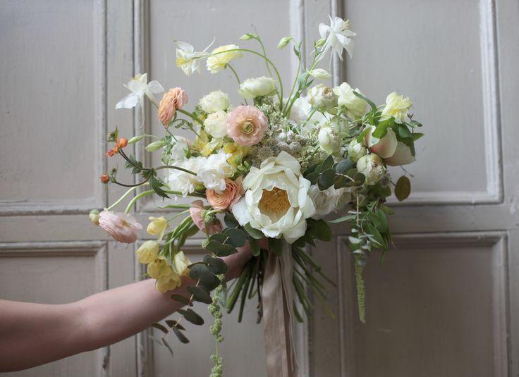 Hand-tied bouquet with Sarah and Nicolette Camille...Little Flowers school NY... by La Musa de las Flores