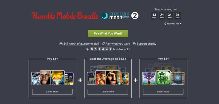 The latest Humble Mobile Bundle includes 11 games from Crescent Moon