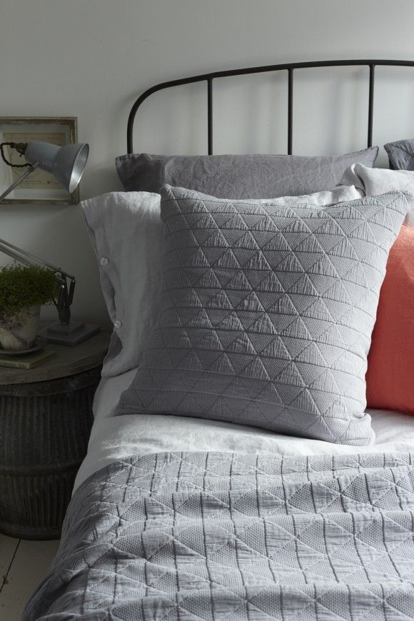 Stockholm Bedspread In Grey Or White From Natural Bed Company